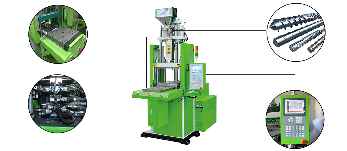 vertical injection machine with sliding table