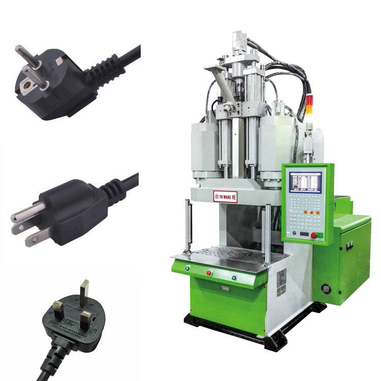large production quantity cable plug injection machine