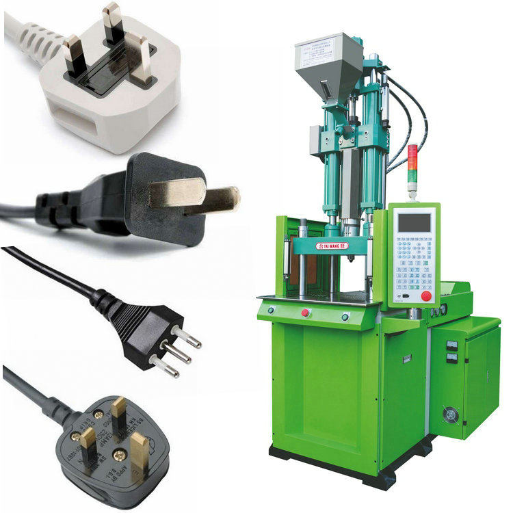 vertical injection machine for make electric power plug